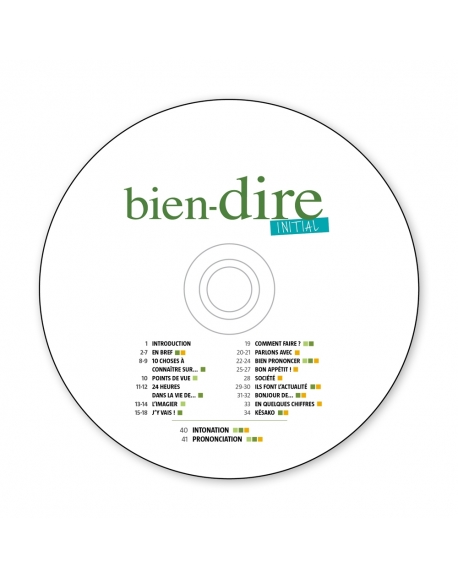Bien Dire Initial Audio CD