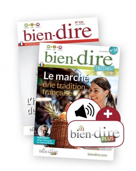 1 year : Bien-dire + Bien-dire Initial + audio download