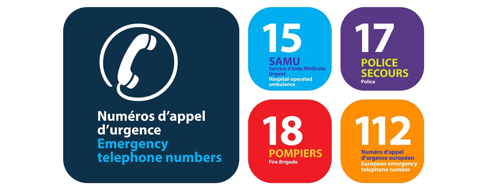 Les numéros d'urgence en France (Tous niveaux)